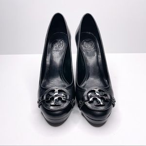 Tory Burch Black Aaden Leather Pump Heel